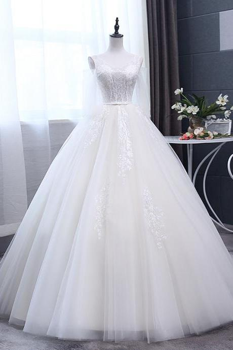 Winter new style bridal wedding dress 2019 word shoulder white wedding dress