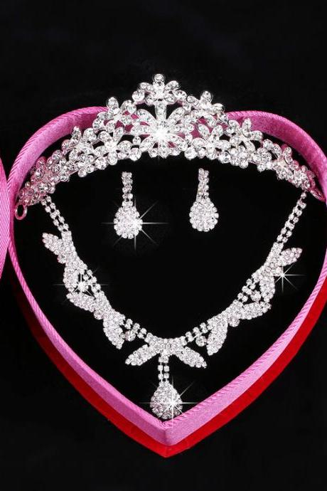 Bridal Jewellery Set Korean Wedding Jewelry Necklace Crown