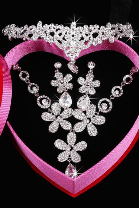Bridal Wedding Jewelry Alloy Set Crystal Bridal Jewellery Set