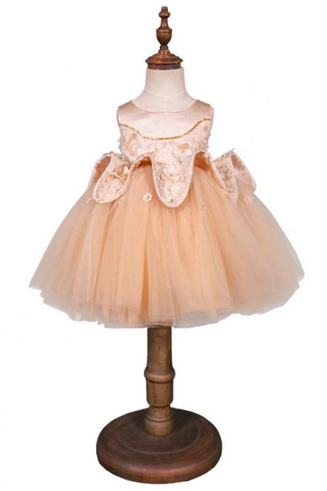 Princess Wedding Dress Skirt Girl Puff Puffy Summer Child Birthday Dress Flower Girl Skirt
