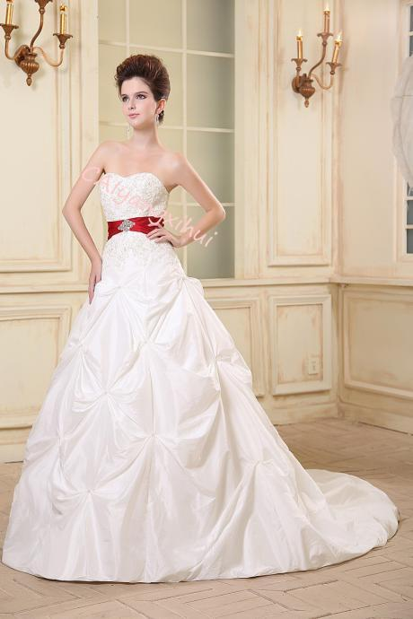 Bridal wedding dress taffeta wedding dress