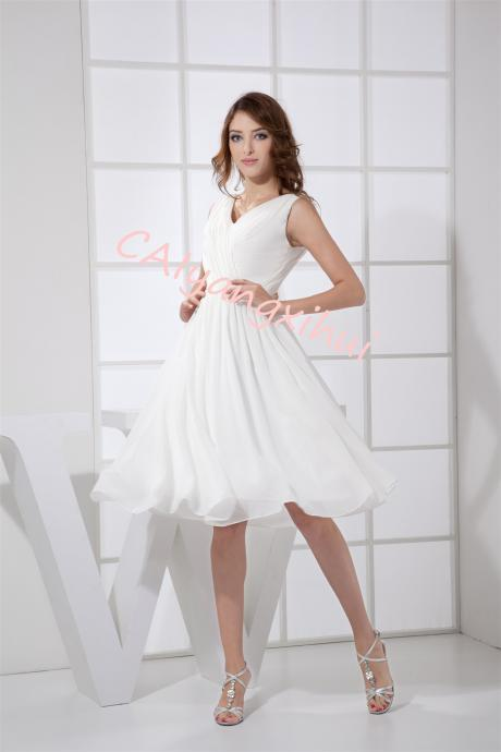 Women's short dress prom chiffon party dress