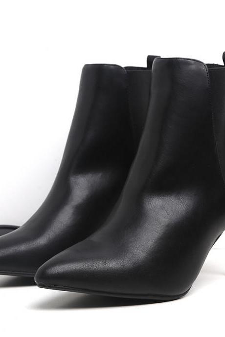 Women's Boots Fashionable Sexy High-heeled Short Boots Show Thin Skinny Heel Fashion Boots