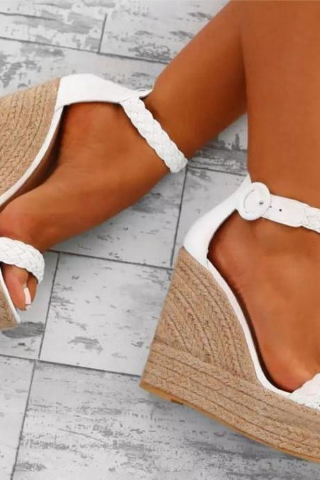 Summer Fashion Super High Heel Platform Buckle Ladies Large Size Sandals 40-43Fashion wom