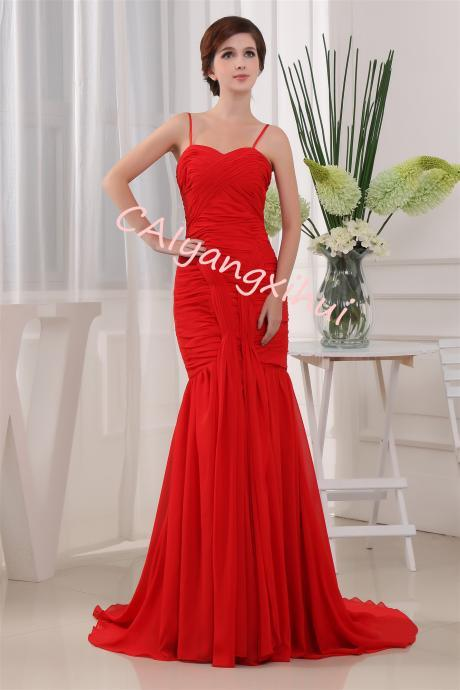 Chiffon Bridesmaid Long Dress Party Evening Formal Gown Sleeveless