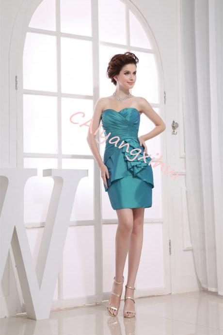 Women's Taffeta Prom Short Dress Party Back To School Dress
