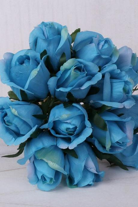 Artificial flowers 13 rose bouquets High-grade silk cloth artificial flowers Bride holding flowers