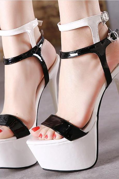 New large size super-heeled sandals women summer stiletto heel platform sexy high heels ladies cool high heelInside