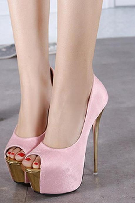 New super high heel shoes Sexy heeled women's shoes