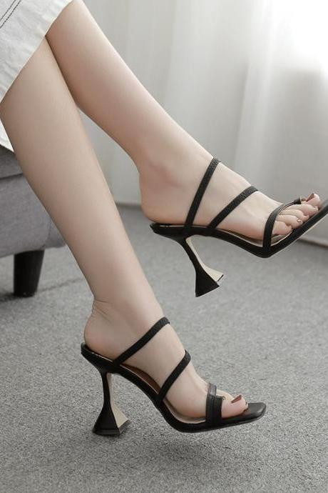New women's shoes European style high heel sandals