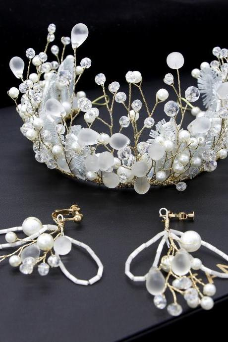 Bridal headdress handmade crown wedding headband wedding accessories
