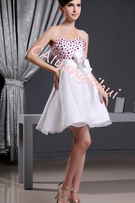 Women organza short dress party dress