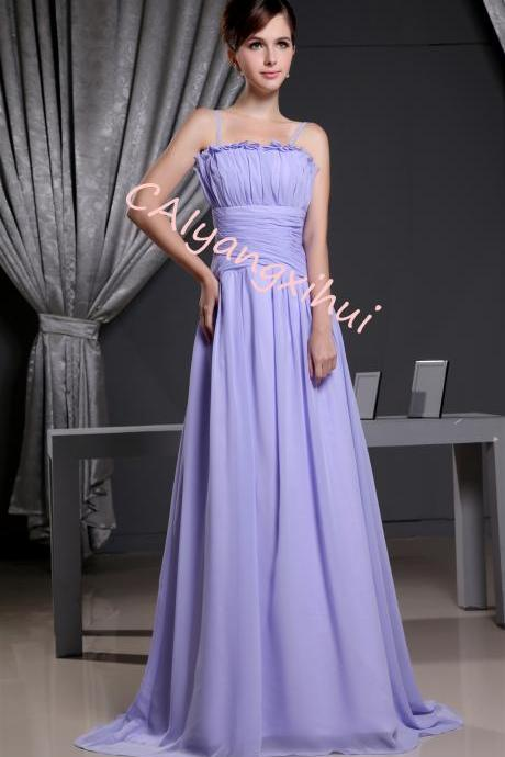 Women's Pleated Chiffon Prom Evening Party Gown Bridesmaid Dresses