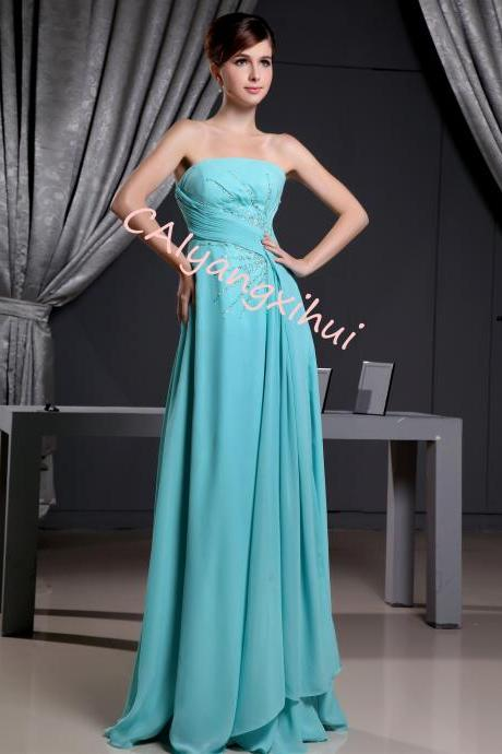 Bridesmaid Dresses For Women Long Chiffon Wedding Prom Evening Gown