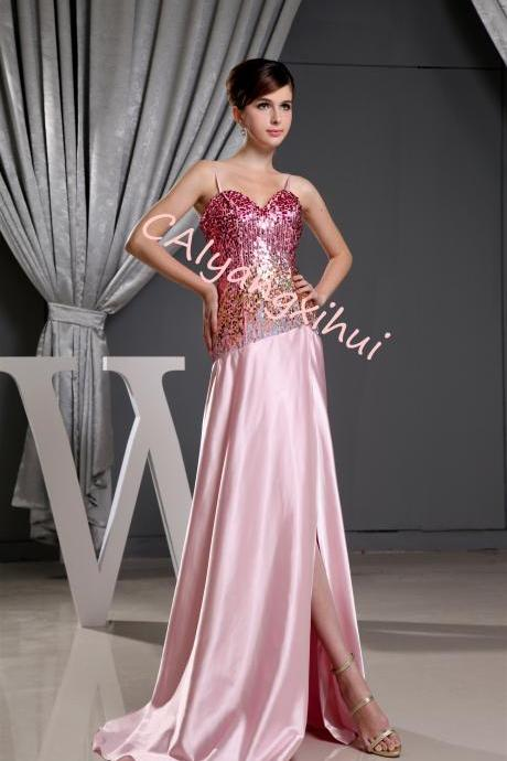 Women's Bridesmaid Dresses Long Sequined Lace Wedding Prom Evening Gown