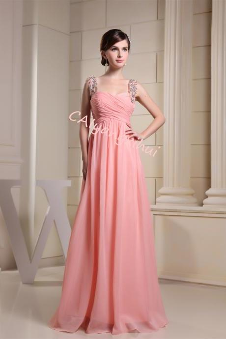 Chiffon bridesmaid dress long evening dress prom dress long skirt
