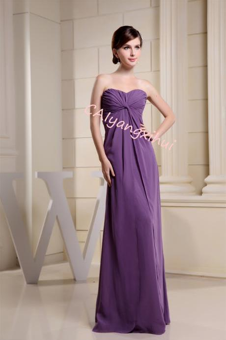 Women's Sweetheart Chiffon Party Evening Dress Bridesmaid Dress