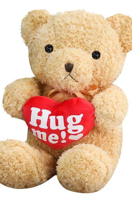 Love bear hug heart teddy bear hug bear doll doll rag doll plush toy to send female birthday gift