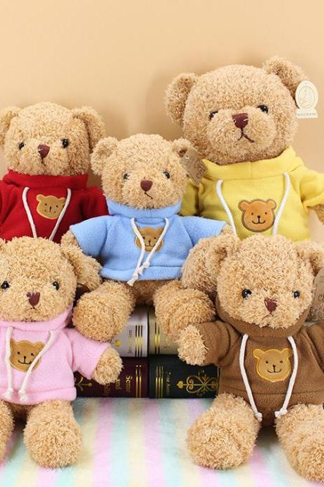 Teddy bear sweater bear creative hug bear doll plush toy rag doll birthday gift pillow