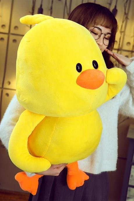 Little yellow duck plush toy pillow child girl birthday gift stuffed animal