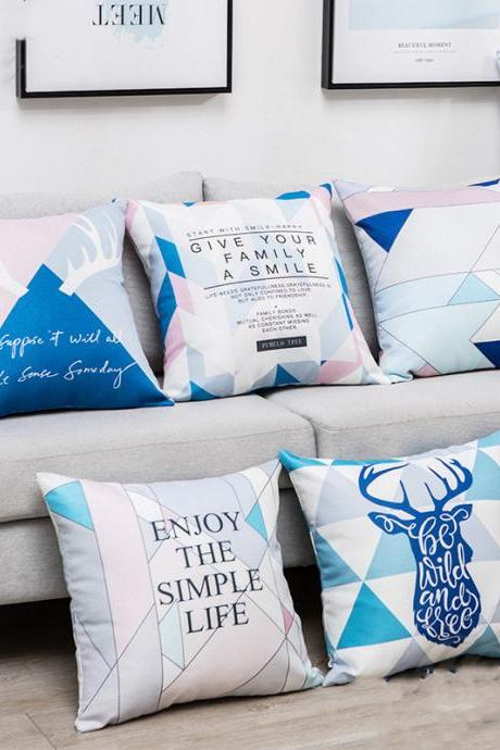 Nordic geometric pillowcases home soft decoration decorative pillows 2 Pieces