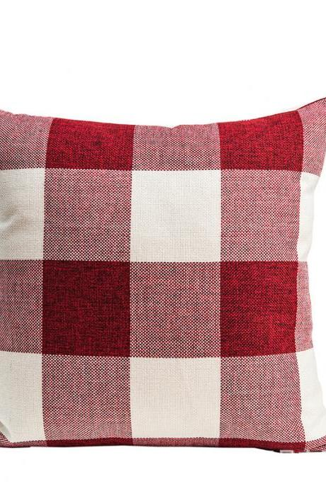 Lattice pillowcase home geometric Nordic cotton and linen cushion pillow foreign trade linen pillowcase