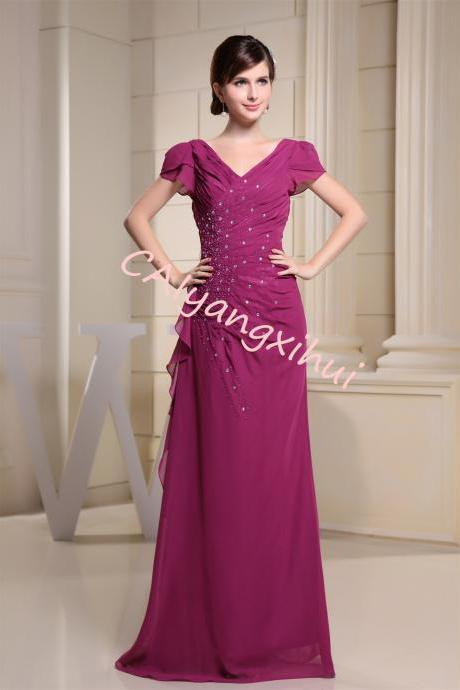Women's Chiffon Dress Long Dress Prom Banquet Evening Dress