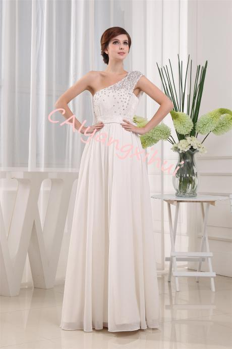 Lace Long Chiffon Formal Evening Bridesmaid Dresses Maxi Party Ball Prom Gown Dress