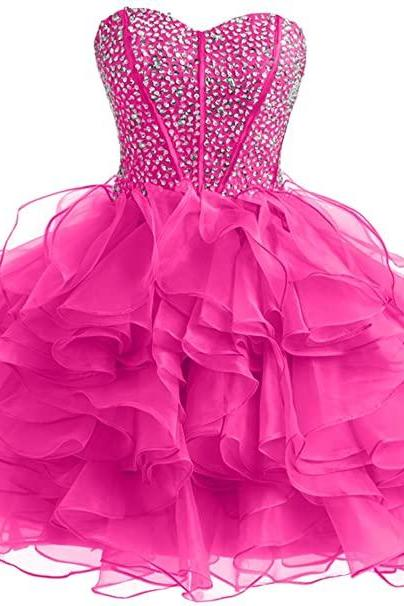 Ball Quinceanera Gown Prom Dance Pageant Dress Sweet Organza