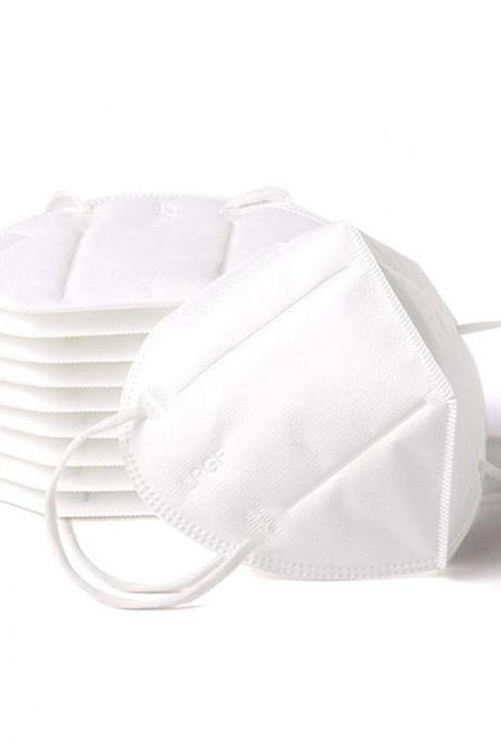 Disposable masks kn95 four-layer white dust-proof breathable Adult Anti-fog Haze Dustproof Non-Woven Fabrics Mask