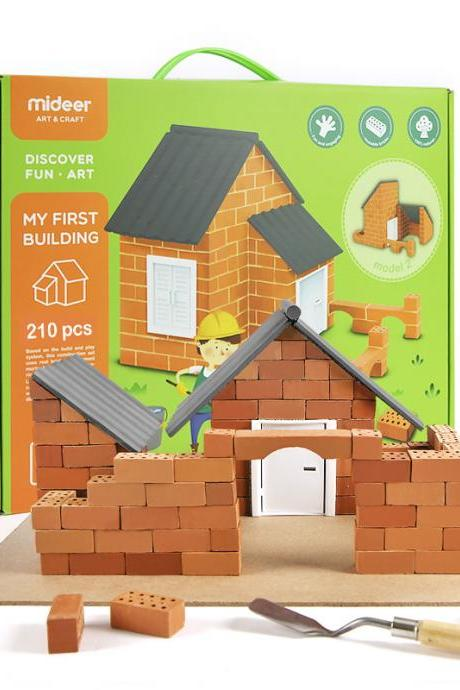 Feng tata Children's DIY Construction Site Toys, Small Bricklayers Bricks Construction Toys, Classic Game Building Block Toys for