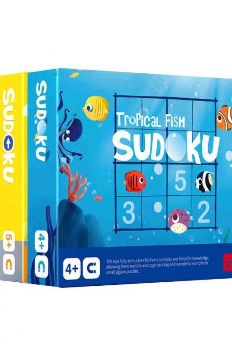 Tropical Fish Sudoku Children Digital Magnetic Board Chess Game Desktop Logic Thinking Educational Toy