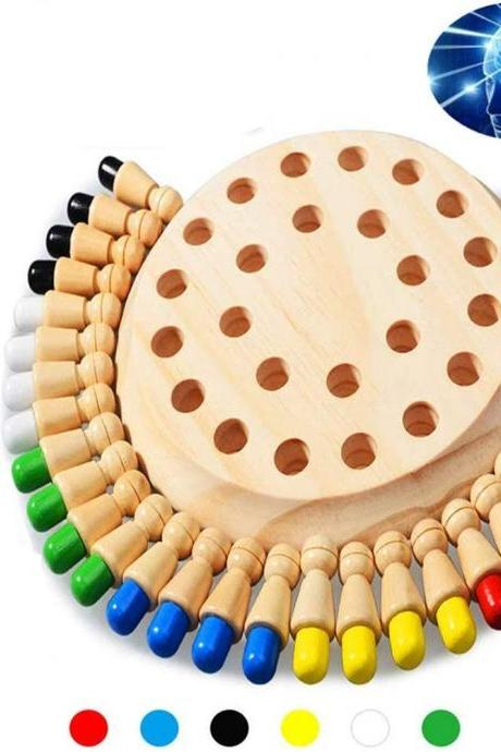 Newly Children Wooden Memory Matchstick Chess Game Block Board Educational Intelligent Games Logic Braintease Toys for Boys and Girls