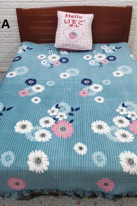 Bedding Multifunctional Blanket Four Season Blanket Korean Crystal Fleece Bed Cover Quilted Cotton Single Bed Cover
