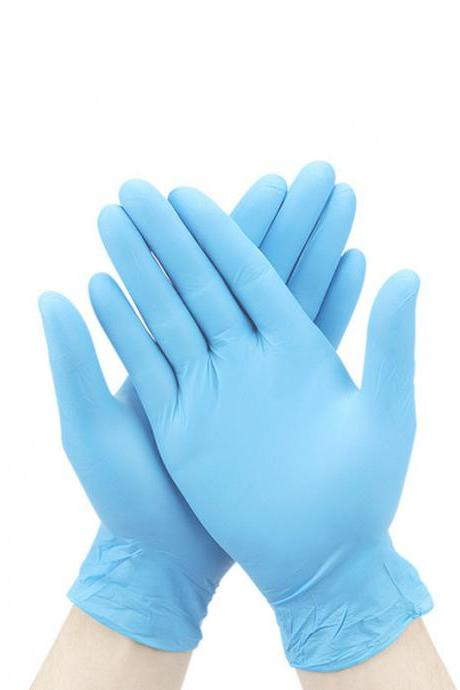 200 Pcs Nitrile Disposable Gloves Powder Free Rubber Latex Free Medical Exam Gloves Non Sterile Ambidextrous Comfortable Industrial Blue Rubber Gloves