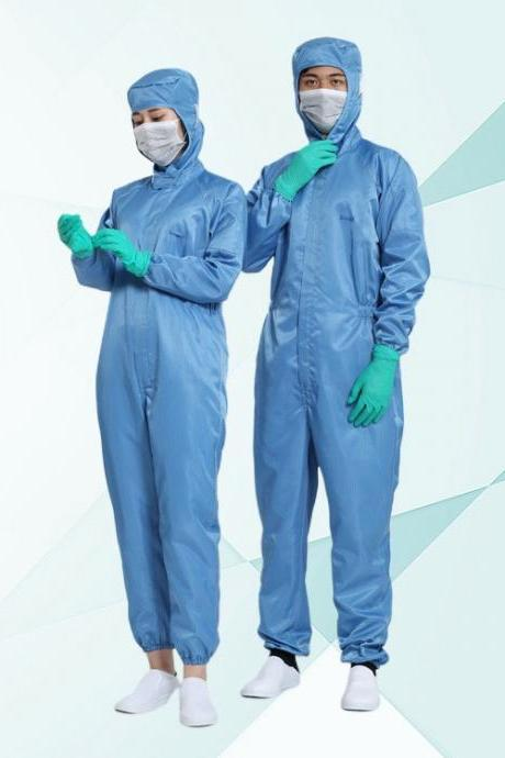 Non-Disposable Anti-Dust Protective Clothing Elastic Siamese Suit Anti-Static General Isolation Clothing