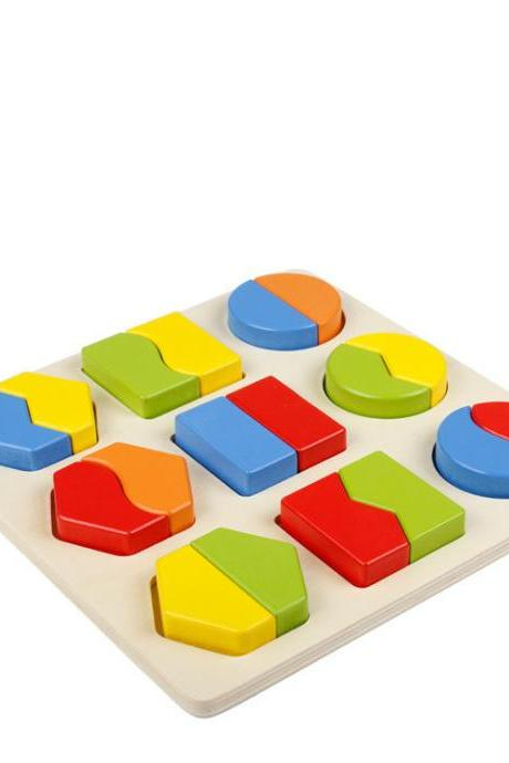 Children's Educational Toys Geometric Shape Color cognition Pairing Early Intelligence Building Blocks Puzzle