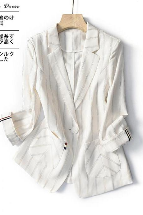 Women's One Button Jacket Spring Thin Section Suit