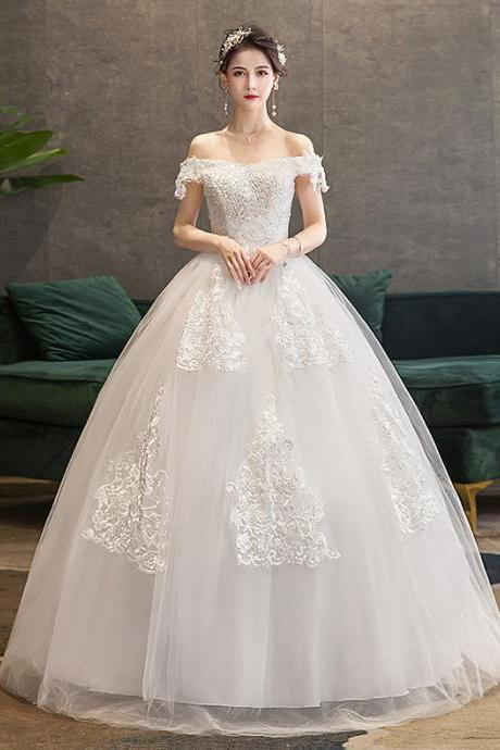 Bridal wedding dress One shoulder wedding dress
