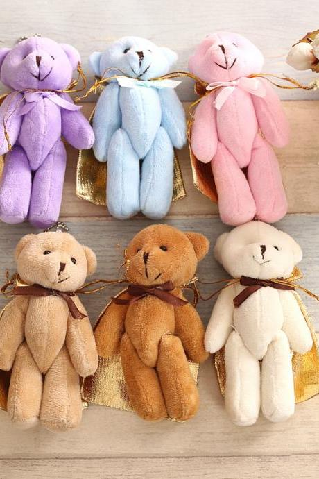 Plush doll pendant key ring pendant festival bear plush toy children birthday gift-30 pcs
