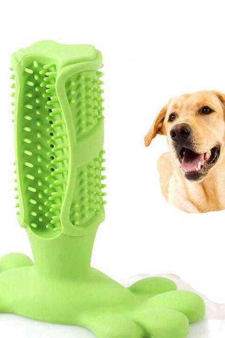Dog Toothbrush Stick Silicone Puppy Chew Toys Bone Bite Resistant Dog Dental Chews Effective Teeth Cleaning for Small Medium Dogs-2PCS