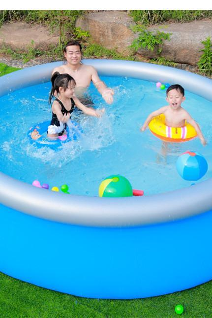 Thickened round clip net swimming pool home oversized children inflatable pool large family adult pool children