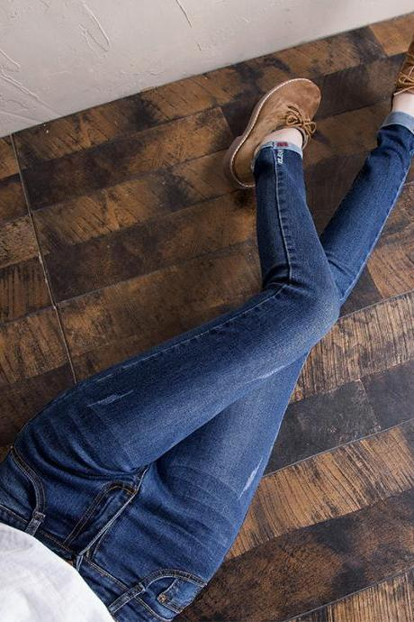 Women's jeans female elastic feet pants student pencil pants