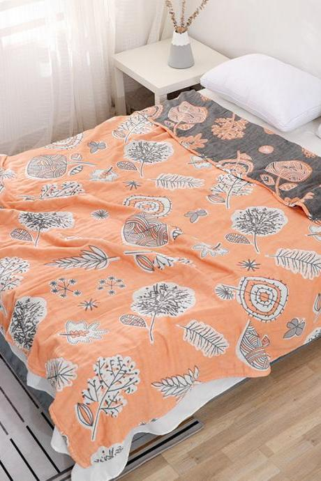 Pure cotton six-layer gauze air conditioning quilt blanket for children cotton summer quilt