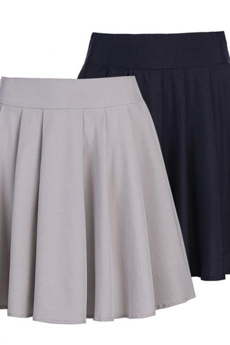 Women's large hem skirt fashion party a-line pleated skirt