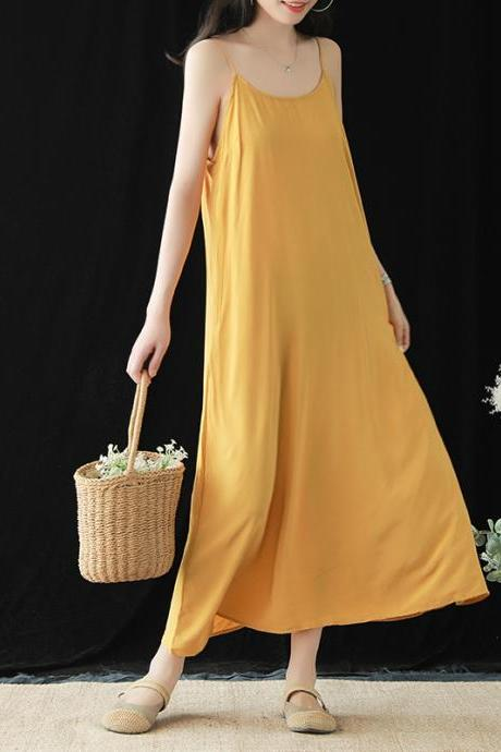 Women Casual Loose Summer Slip Dresses Beach Cover up Plain Night Sleep Dress