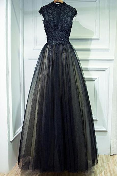 Women's Prom Evening Dress Black Party New Dress
