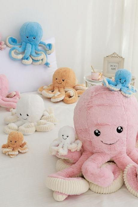 Cute Baby Octopus Plush Doll, Soft Stuffed Animal Toys,15 inch / 40cm/ Great Gift for Kids Children Boys Girls 2-7 Years Old