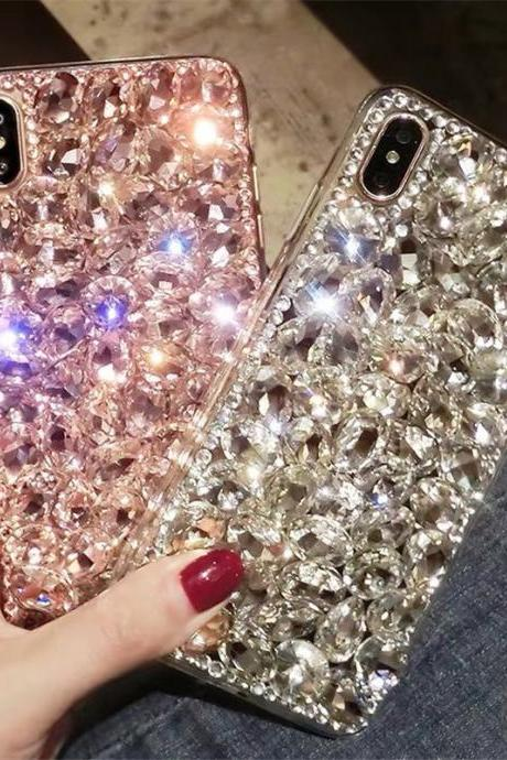 Apple 11 mobile phone case iPhoneXSMAX rhinestone XR creative 11Pro max tide 7/8plus