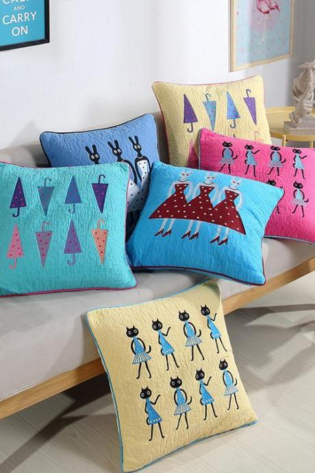 Multifunctional fashion cartoon office pillowcase home bedroom sofa pillow cushion